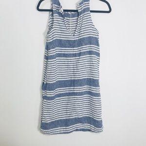 Old navy summer blue white stripes dress SP used